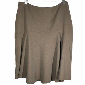 Bleu Blanc Rouge Wool Blend Skirt Brown Size 44